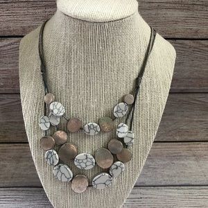 Alluring Grey Statement Necklace